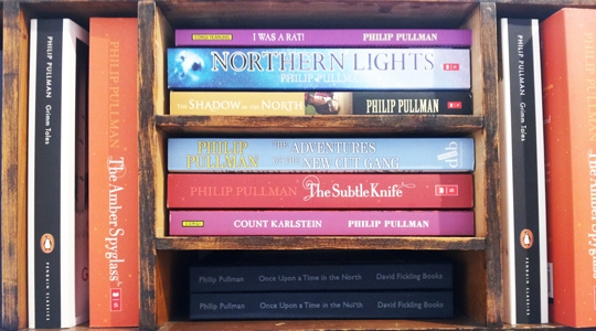 Image: Books by Philip Pullman in the Museum's shop