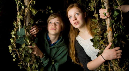 Isidore and Aphra Hiscock get lost in Middle Earth. Pic: Antony Moore for the Oxford Times