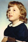 A baby photo of Maria Quantrill, head of finance