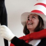 A photo of Chris Bird dressed up as Seuss' The Cat in the Hat