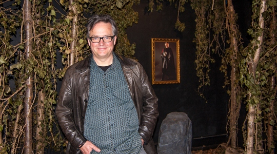 Charlie Higson in the Boromir installation.