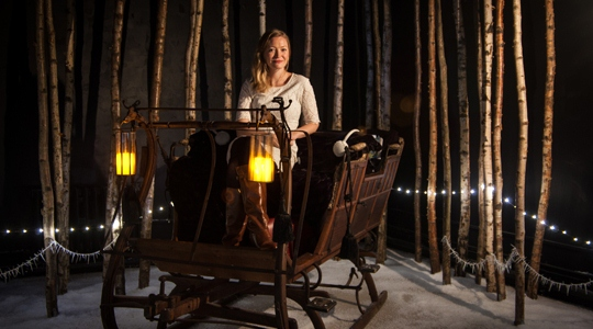Holly Smale in the Narnia installation.