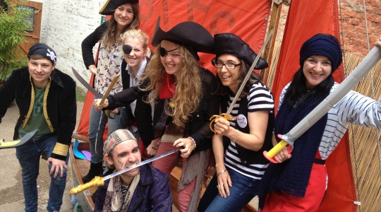 Image: Story Museum staff and volunteers dressed as pirates