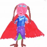 Image: child's drawing of Anna from Frozen