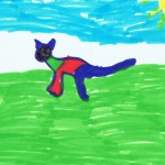 Image: child's drawing of a cat