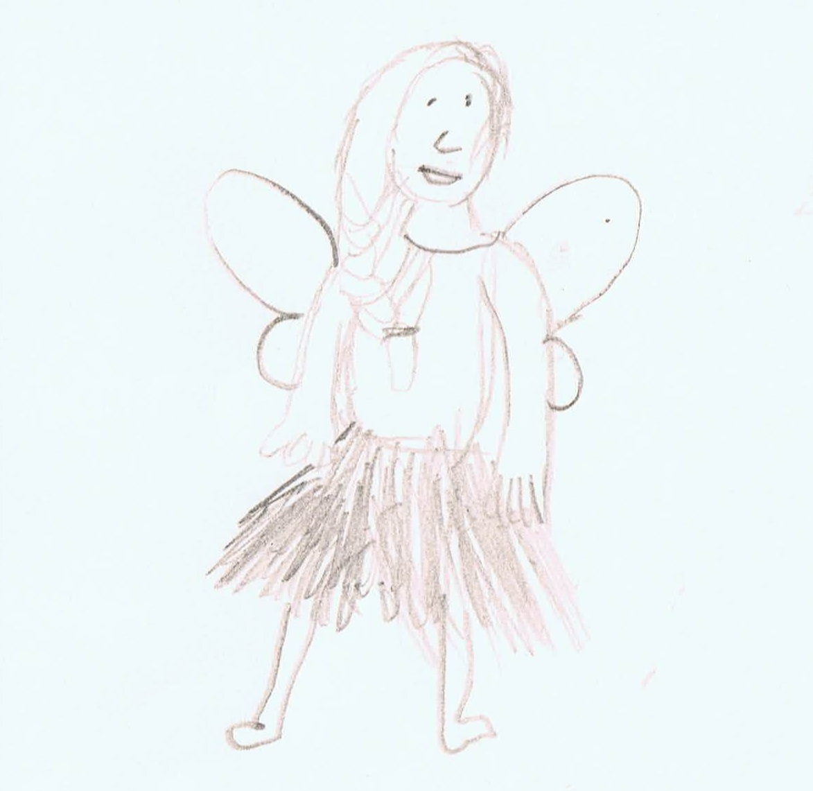 Image: child's drawing of a fairy