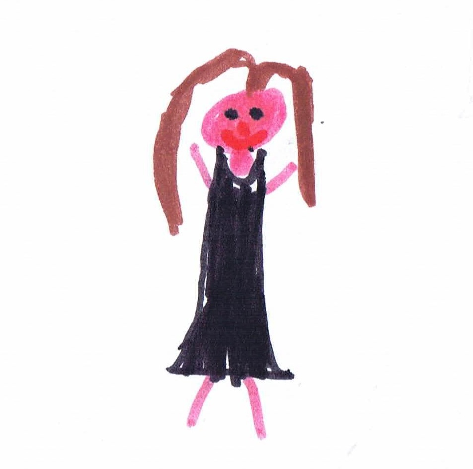 Image: child's drawing of Dorothy from The Wizard of Oz