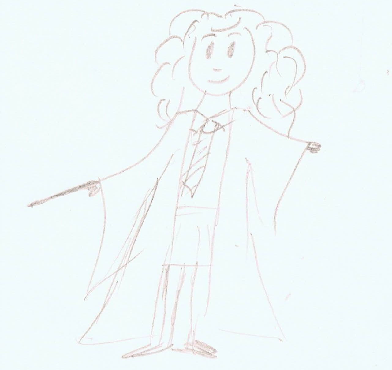 Image: child's drawing of Hermione from Harry Potter