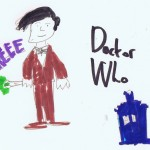 Image: child's drawing of The Doctor from Doctor Who