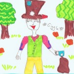 Image: child's drawing of the Mad Hatter