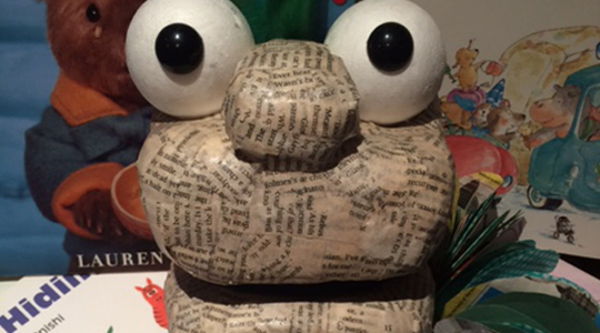 photo of book worm puppet