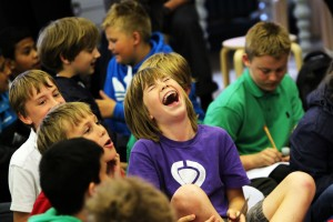 A Team workshop, children in audience. Pic Ed Nix, copyright The Story Museum 026